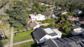 Aerial view above Pasadena neighborhood, Los Angeles, California 76162971