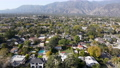 Aerial view above Pasadena neighborhood, Los Angeles, California 76162973