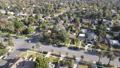 Aerial view above Pasadena neighborhood, Los Angeles, California 76162975