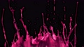 Splashing Pink Glossy Paint in Super Slow Motion. Shot with High Speed Cinema Camera at 1000fps 76171928