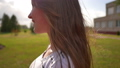 Portrait of a girl in profile in the evening on a summer day. 76269793