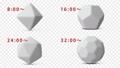 回転する多面体の模型。アルファチャンネル付き。3Dレンダリング。 76279202