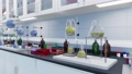 Medical science research lab equipment Close up 3D 76304713
