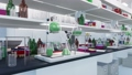 Modern science medical lab equipment close-up 3D 76304714