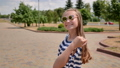 Young teen girl posing on a summer day. 76306540