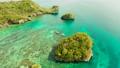 Seascape: island in the lagoon Boracay, Philippines. 76330103