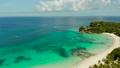 Boracay island with white sandy beach, Philippines 76330111