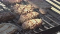 Meat cooks on the grill in slow motion 2 76341429