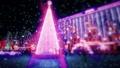Christmas street background flickering lights  76365118