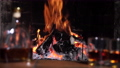 Burning Fire In The Fireplace 76366616