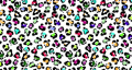 Animation seamless pattern faux leopard trendy skin. Abstract print spots skin Cheetah. Colorful cheetah leather camouflage on white background. 4K video graphic animation 76382538