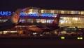 Slowly Sliding Night View of New Terminal of Phuket International Airport. Thailand. 76388609