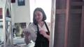 Beautiful female painter drawing picture in art studio 76408134