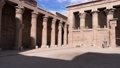 The ruins of the ancient temple of Horus in Edfu, Egypt 76442370