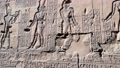 The ruins of the ancient temple of Horus in Edfu, Egypt 76442371