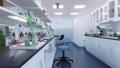 Empty scientific research lab room interior 3D 76455709