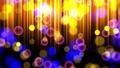 金色の光とネオンイメージ背景。ループ動画 76549727