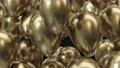 3d render frame of golden balloons on a black background 76558744