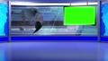 virtual news studio set green screen 76574801