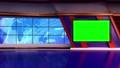 virtual news studio set green screen 76574804
