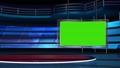 virtual news studio set green screen 76574807