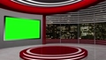 virtual news studio set green screen 76574808