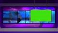 virtual news studio set green screen 76574811