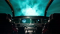 Space travelers astronauts fly through the space portal in their interstellar spacecraft. The loopable animation is for fantastic, the futuristic or space travel backgrounds. Spaceship in a wormhole. 76583709