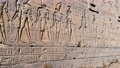 The ruins of the ancient temple of Horus in Edfu, Egypt 76595554