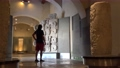 Tourist in the Museum of Mayan Architecture Bastion of Our Lady of Solitude. San Francisco de Campeche, Mexico 76598149