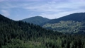 Coniferous forests landscape in Ukrainian Carpathians. 76603433