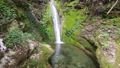 Small waterfall with green moss background 76614057
