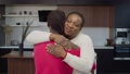 Portrait of affectionate attractive african american mother embracing and caressing teenage daughter with braided hair, expressing love, care , support and strong relationship in home interior. 76684123