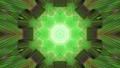Dynamic green ornament 4K UHD 60FPS 3D illustration 76684693