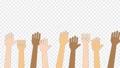 色々な人種が手を上げるアニメーション・お祝い・バンザイ / 4K (アルファチャンネル・背景なし) 76700950