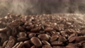 Super slow motion of coffee beans pile with camera move. Filmed on high speed cinema camera. 76723386