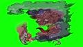 巨大妖怪-赤舌が人間を食べる-グリーンバック素材 76729412