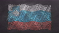 Chalk drawn and animated flag of Slovenia 76738456