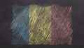 Chalk drawn and animated flag of Romania 76738457