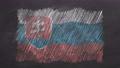 Chalk drawn and animated flag of Slovakia 76738458