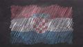 Chalk drawn and animated flag of Croatia 76738459