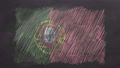 Chalk drawn and animated flag of Portugal 76738460