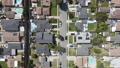 Aerial view of Lakewood middle class neighborhood, city in Los Angeles County, California 76759329
