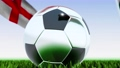 Seamless looping 3d animation of a soccer ball reflecting the flags of Wales and England in 4K resolution 76767745
