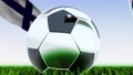 Seamless looping 3d animation of a soccer ball reflecting the flags of Wales and Finland in 4K resolution 76767746