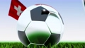 Seamless looping 3d animation of a soccer ball reflecting the flags of Wales and Switzerland in 4K resolution 76767758