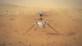 Ingenuity helicopter takeoff from Mars and surface observation. 4k footage 76789830
