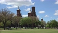 """National Mal with Smithsonian Institution  """"the Castle"""" at background. Washington, D.C., USA. 76844614"""