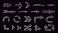 Animated Hand Drawn Arrows Pointer Set. 76849500