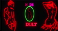 Nude Adults neon sign flickering in the night. Loop 76856114